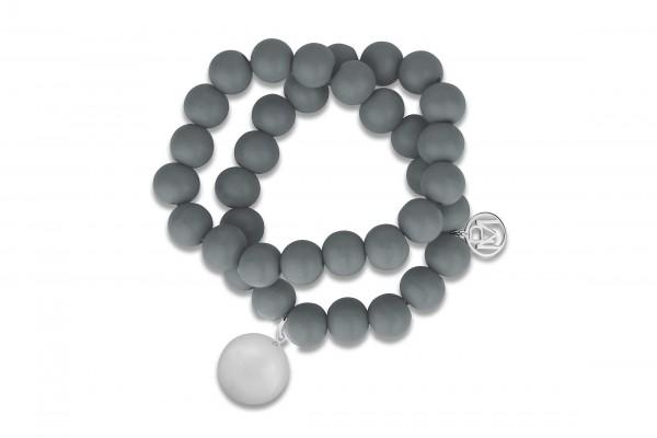 Possum Kugelarmband-Kette Big Ball Ball 925 Sterling silber rhodiniert