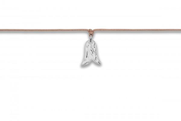 Possum Langes Kettchen Cowgirl Bell 925 Sterling Silber rhodiniert