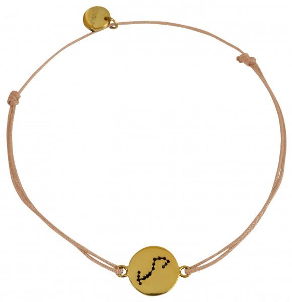 Possum Wunscharmband Skorpion 925 Sterling Silber gelbgold vergoldet