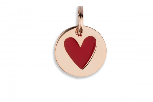 Possum Großer Anhänger Big Red Heart 925 Sterling Silber