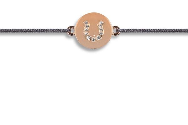 Possum Wunscharmband Horseshoe Zirkonia 925 Sterling Silber rosévergoldet