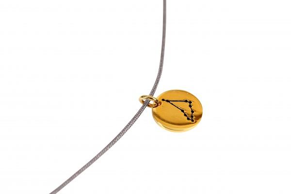 Possum Kettchen Steinbock 925 Sterling Silber gelbgold vergoldet