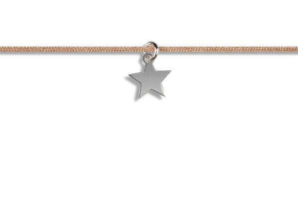 Possum Kettchen Star 925 Sterling Silber rhodiniert
