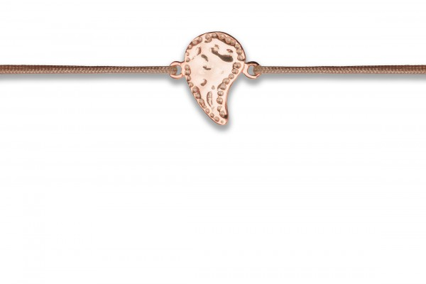Possum Wunscharmband Cowgirl Drop 925 Sterling Silber rosévergoldet