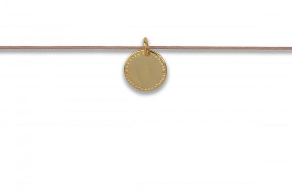 Possum Langes Kettchen Cowgirl Circle 925 Sterling Silber gelbgold vergoldet