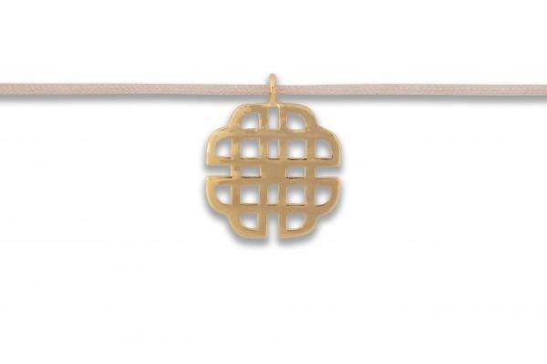 Possum Langes Kettchen Big Oriental 925 Sterling Silber gelbgold vergoldet