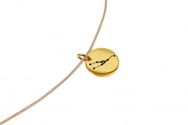 Possum Kettchen Stier 925 Sterling Silber gelbgold vergoldet