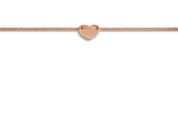 Possum Fußkettchen Heart 925 Sterling Silber rosévergoldet