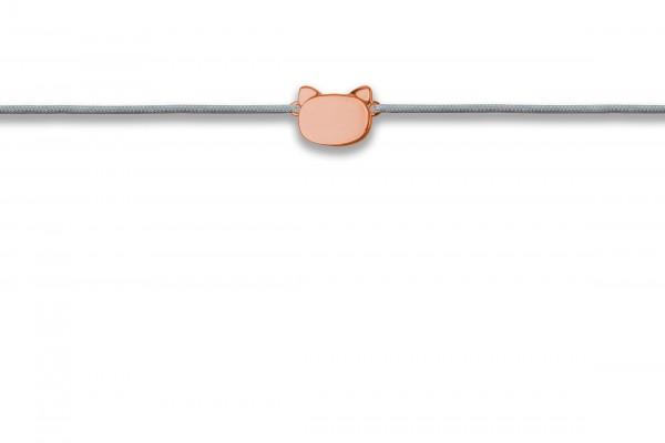 Possum Wunscharmband Little Cat 925 Sterling Silber rosévergoldet