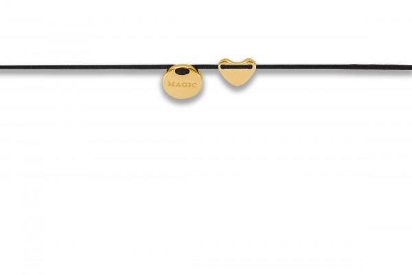 Possum Armbändchen Heart - Magic 925 Sterling Silber gelbgold vergoldet