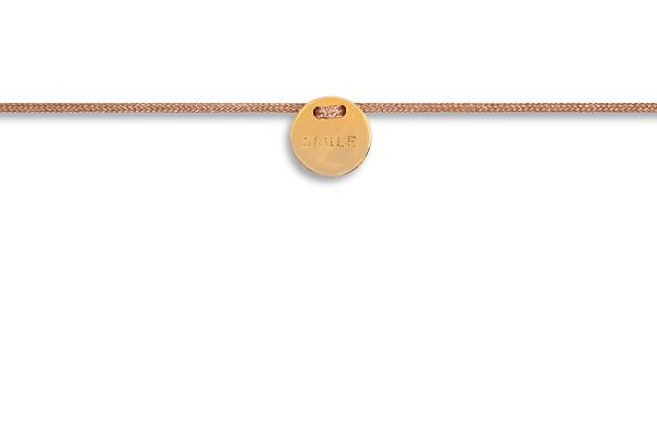 Possum Fußkettchen Smile 925 Sterling Silber gelbgold vergoldet