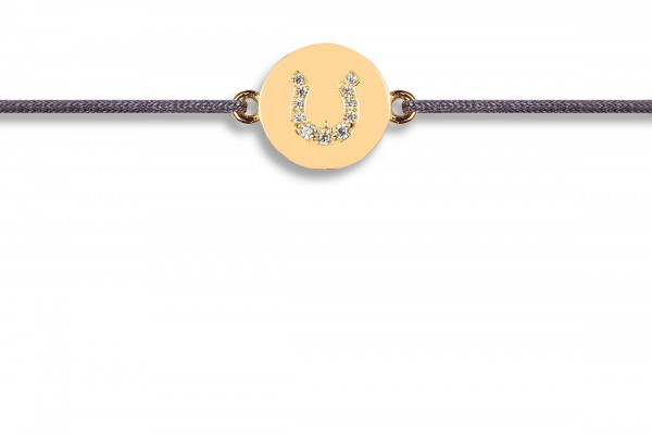 Possum Wunscharmband Horseshoe Zirkonia 925 Sterling Silber gelbgold vergoldet