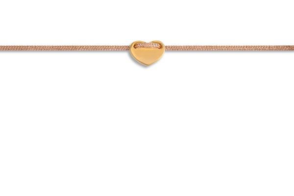 Possum Fußkettchen Heart 925 Sterling Silber gelbgold vergoldet