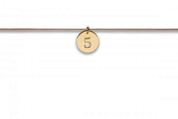 Possum Langes Kettchen That´s my Number 5 925 Sterling Silber gelbgold vergoldet