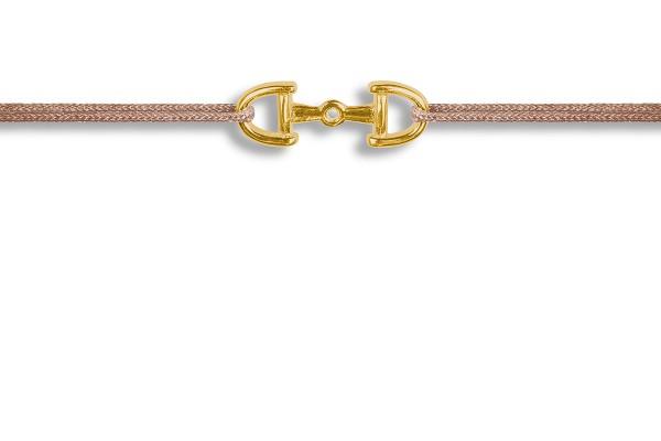 Possum Wunscharmband Horsebit 925 Sterling Silber gelbgold vergoldet