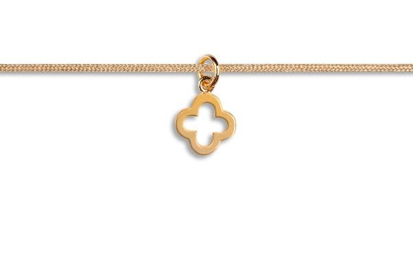Possum Kettchen Shamrock 925 Sterling Silber gelbgold vergoldet