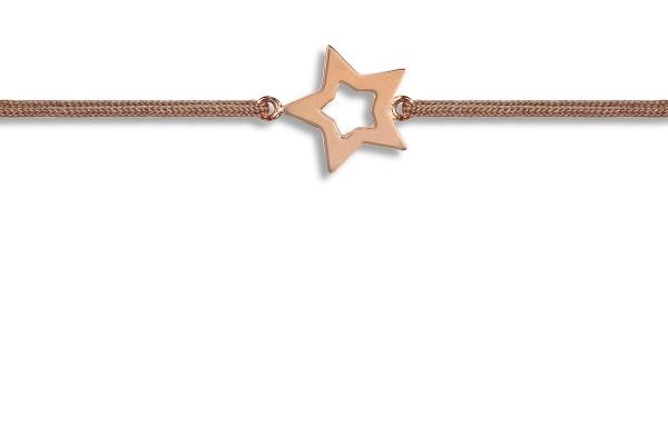 Possum Wunscharmband Star 925 Sterling Silber rosévergoldet
