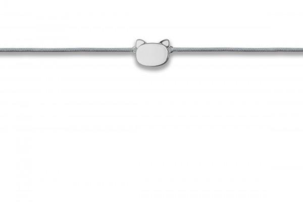 Possum Wunscharmband Little Cat 925 Sterling Silber silber rhodiniert