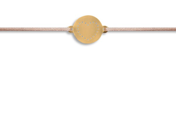 Possum Wunscharmband Little Heart 925 Sterling Silber gelbgold vergoldet