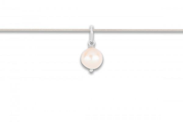 Possum Langes Kettchen Pearl 925 Sterling Silber rhodiniert