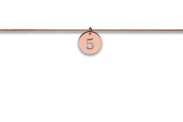 Possum Langes Kettchen That´s my Number 5 925 Sterling Silber rosegold vergoldet