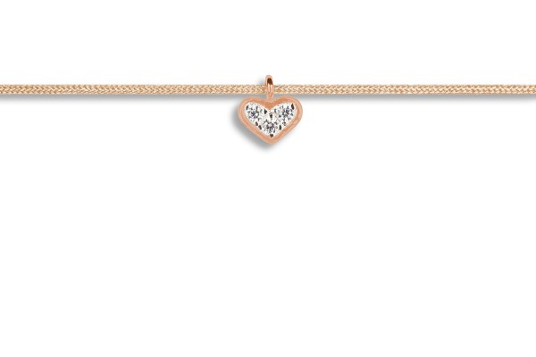 Possum Kettchen Heart Zirkonia 925 Sterling Silber rosévergoldet