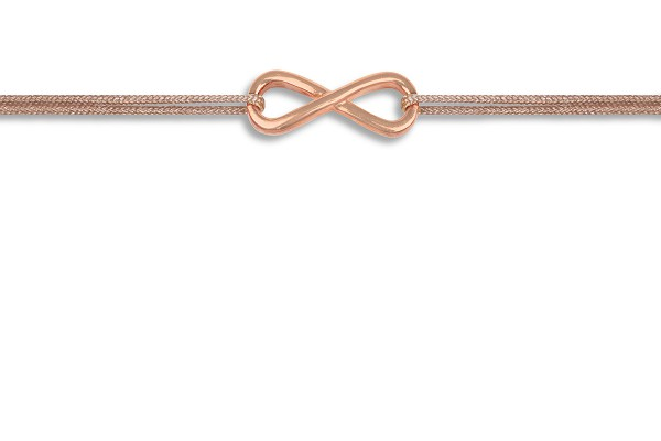 Possum Wunscharmband Infinity 925 Sterling Silber rosévergoldet