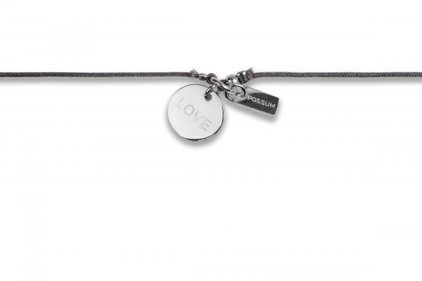 Possum Chokerkettchen Love 925 Sterling Silber rhodiniert