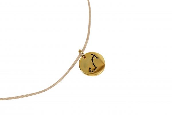 Possum Kettchen Skorpion 925 Sterling Silber gelbgold vergoldet