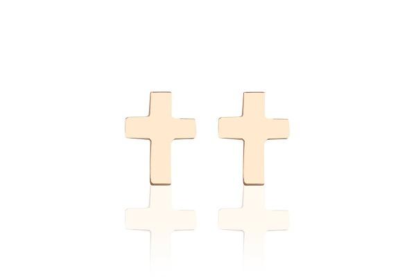 Possum Ohrstecker Cross 925 Sterling Silber