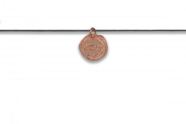 Possum Langes Kettchen Antique Coin Number 925 Sterling Silber rosévergoldet