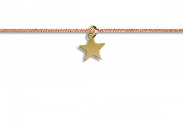 Possum Kettchen Star 925 Sterling Silber gelbgold vergoldet