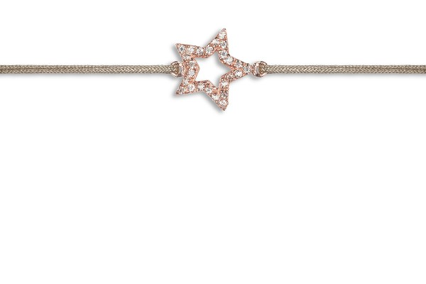 Possum Wunscharmband Star-Zirkonia 925 Sterling Silber rosévergoldet
