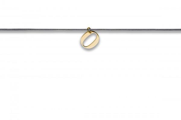 Possum Langes Kettchen That´s my Number 0 925 Sterling Silber gelbgold vergoldet