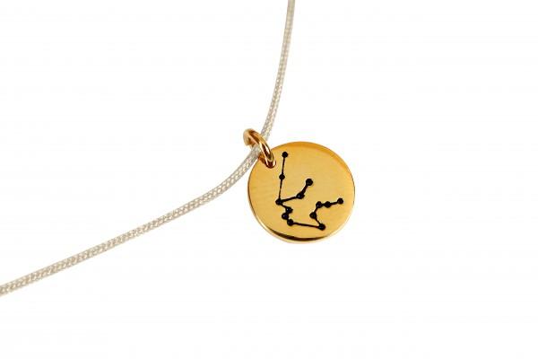 Possum Kettchen Wassermann 925 Sterling Silber gelbgold vergoldet