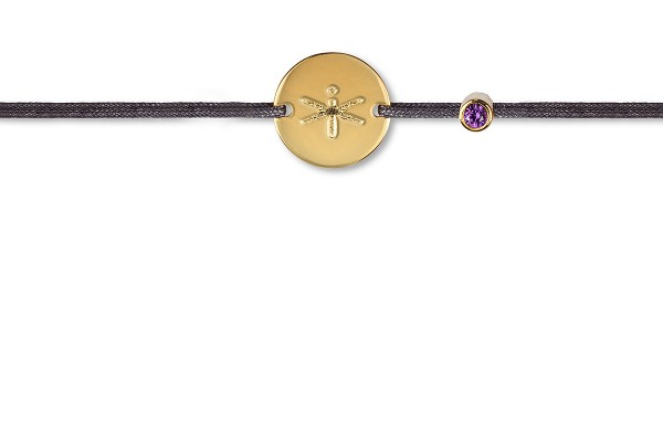 Possum Wunscharmband Libelle 925 Sterling Silber gelbgold vergoldet