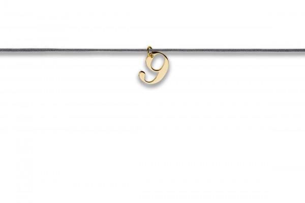 Possum Langes Kettchen That´s my Number 9 925 Sterling Silber gelbgold vergoldet