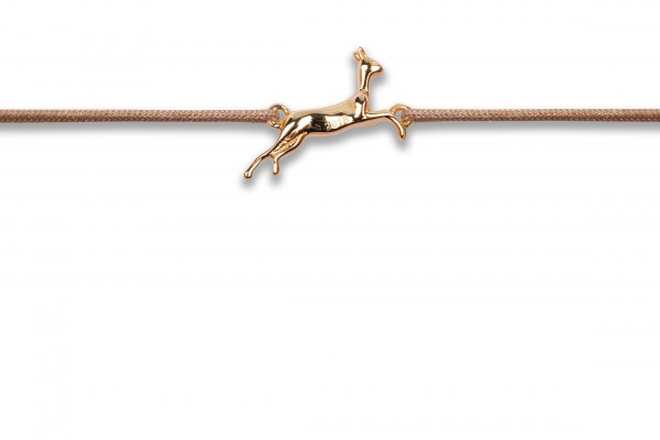 Possum Wunscharmband Bambi 925 Sterling Silber gelbgold vergoldet