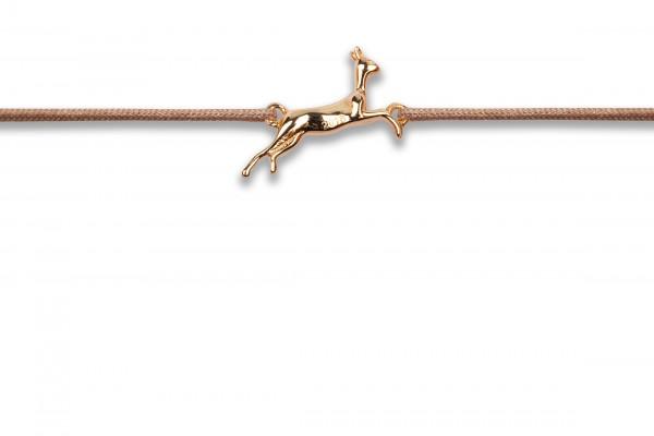 Possum Wunscharmband Bambi 925 Sterling Silber rosévergoldet