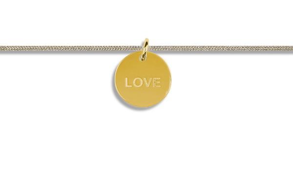 Possum Kettchen Love 925 Sterling Silber gelbgold vergoldet