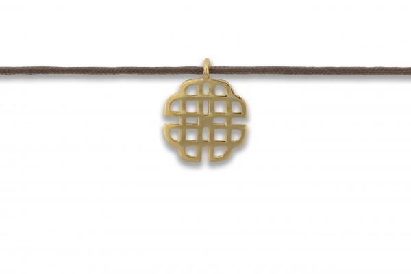 Possum Kettchen Oriental 925 Sterling Silber gelbgold vergoldet