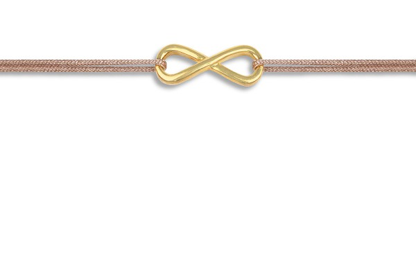 Possum Wunscharmband Infinity 925 Sterling Silber gelbgold vergoldet