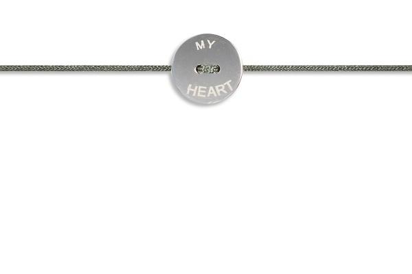 Possum Armbändchen My Heart 925 Sterling Silber rhodiniert