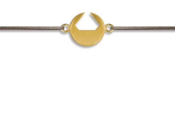 Possum Wunscharmband Diamant 925 Sterling Silber gelbgold vergoldet