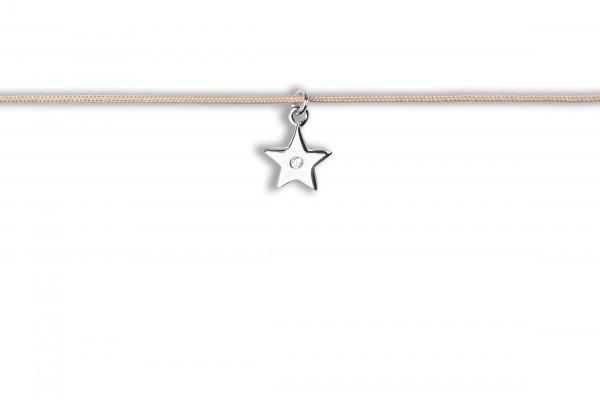 Possum Langes Kettchen Star with stone 925 Sterling Silber rhodiniert