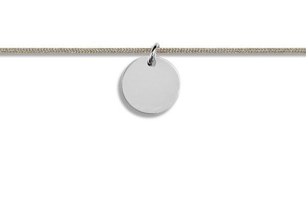 Possum Kettchen Blank 925 Sterling Silber rhodiniert