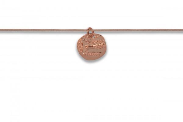 Possum Langes Kettchen Antique Coin Horse 925 Sterling Silber rosévergoldet