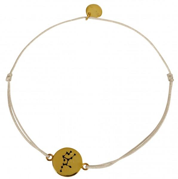 Possum Wunscharmband Jungfrau 925 Sterling Silber gelbgold vergoldet