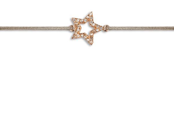 Possum Wunscharmband Star-Zirkonia 925 Sterling Silber geldgold vergoldet