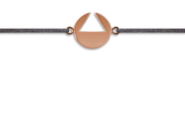 Possum Wunscharmband Triangle 925 Sterling Silber rosévergoldet